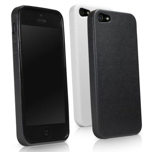BoxWave Rhino DuraForm Case Apple iPhone 5 - schlanke Form-Fassung widerstandsfähig gegen-Abgleitschutz, Ledertextur Apple iPhone 5 - Stil Hüllen (Winterweiß)