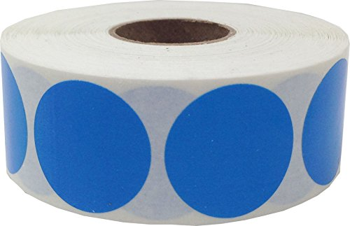 Blue Color Coding Labels Round Circle Dots 1 Inch 500 Total Adhesive Stickers