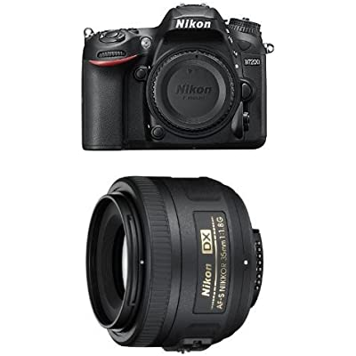 Nikon D7200 DSLR Camera Portrait and Prime Lens Kit