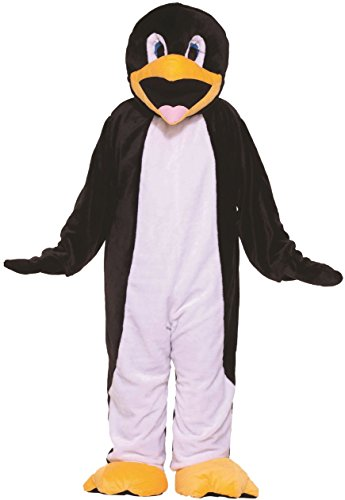 Costumes Mascot Economy (Forum Novelties Men's Penguin Plush Economy Mascot Costume Arctic Animal Halloween One Size Fits Most)