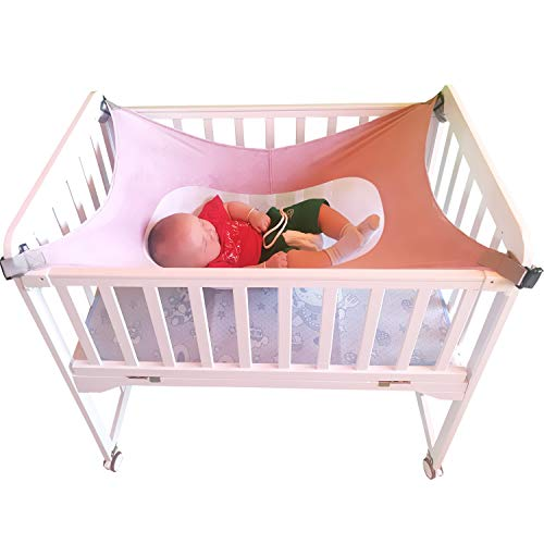 Breathable Baby Crib Hammock for Newborns Infants Toddlers, Enhanced Material, Machine Washable