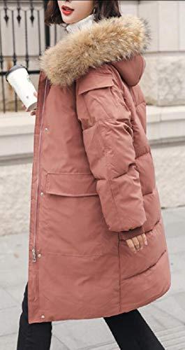 Incappucciate Lana Giacca Cappotti Outwear 3 Di Di Inverno Donne Caldo Eku Pelliccia Parka Finta Di B45xHcqw