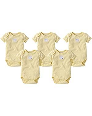 Organic 5 Pack Short Sleeve Bodysuits