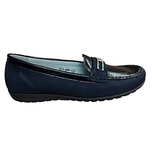 Waldlaufer Ladies Hesima Slip On Penny Loafer 329504 868 194 Dark Blue EYjXBuOuYn