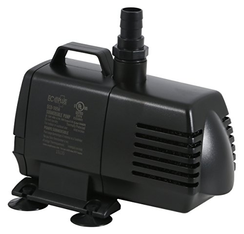 EcoPlus 1056 GPH (3785 LPH, 70W) Submersible Water Pump w/ 15 ft Power Cord | Aquarium, Fish Tank, Fountain, Pond, Hydroponics 75 Gph Magnetic Drive
