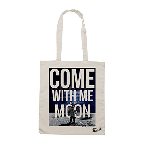 Borsa COME WITH ME TO THE MOON - Panna - MUSH by Mush Dress Your Style