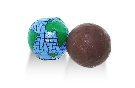 Sweetworks, Milk Chocolate Earth Balls (1 Lbs) (Idee Originali Per Halloween)
