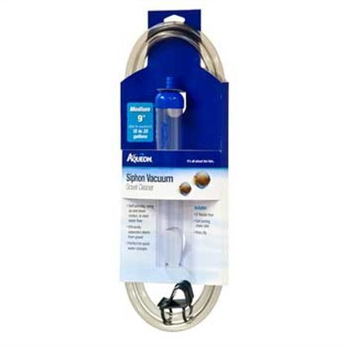 Aqueon Medium Siphon Vacuum Aquarium Gravel Cleaner, 9-Inch