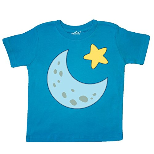 inktastic - Moon and Star Toddler T-Shirt 3T Turquoise - T-shirt Toddler Star