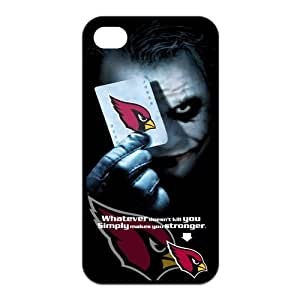 NFL Arizona Cardinals With Joker Poker Unique Design Iphone 4 4S TPU Silicone Back Case For Christmas Gifts by ruishername