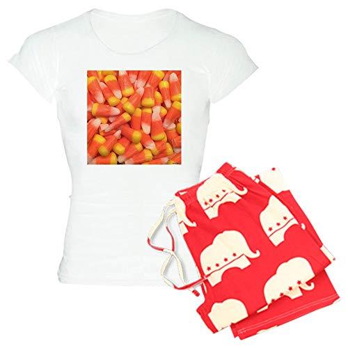 CafePress Candy Corn Womens Novelty Cotton Pajama Set, Comfortable PJ Sleepwear