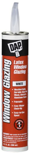 Dap 12108 10.5-oz. White Latex Window Glazing Compound - Quantity 12