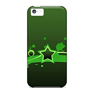 Hard Plastic Iphone 5c Cases Back Covers,hot Green Star Cases At Perfect Customized