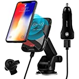 BOBOLONG Wireless Car Charger,10W Qi Fast Charging Auto-Clamping Car Mount,Windshield Dashboard Air Vent Phone Holder Compatible with iPhone Xs MAX/XS/XR/X/8/8+, Samsung S10/S10+/S9/S9+/S8/S8+