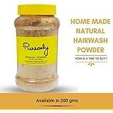 PureOnly Homemade Shikakai Anti Hair-fall and Dandruff Foam-less Natural Hair Wash Powder, 200g - Pack of 1