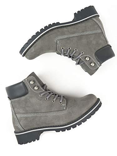 Will's Vegan Shoes Mens Dock Boots-UK 11 / EU 46 / US 12 Grey Vegan Suede