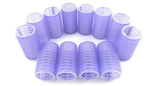 Medium Size Hair Rollers Curlers Self Grip Holding Rollers Hairdressing Curlers Hair Design Sticky Cling Style For DIY Or Hair Salon By Kamays (Gripping Sticky Rollers 30mm/1.2 Medium Size 12PCS)