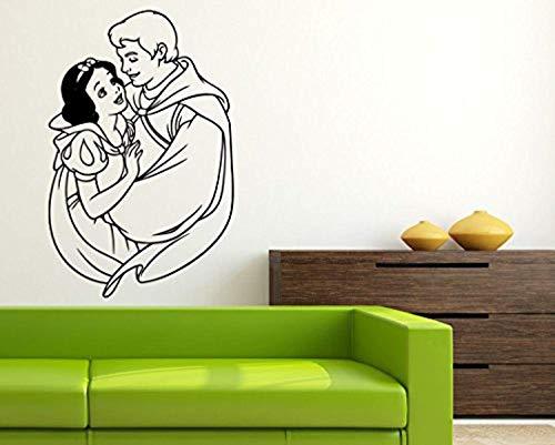 - Snow White & Prince Wall SCCartoon Walt Disney Vinyl Poster Snow White and The Seven Dwarfs Wall Vinyl Decal Home Interior Decor Childs Kids Room Art Nursery WallCSSCC