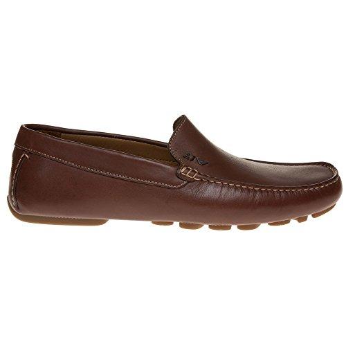 Armani Jeans Driving Shoe Homme Chaussures Fauve