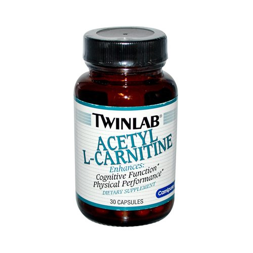 2 Packs of Twinlab Acetyl L-carnitine - 500 Mg - 30 Capsules by Twinlab
