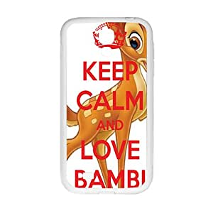 Keep calm and love bambi Case Cover For samsung galaxy S4 Case