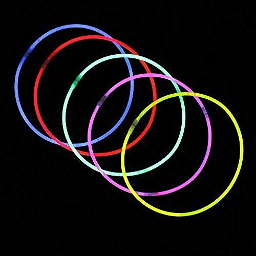 """22"""" Glow Stick Necklaces Neon Colors Party Favors 100 PackTkDeliv from TkDeliv"""