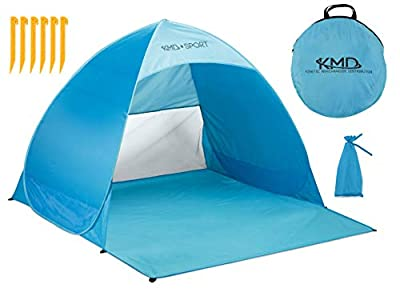 KMD Sport Pop Up Beach Tent Shelters - Lightweight Portable Cabana Sunshade for Privacy & Cool Shade Canopy - Great for Baby, Adults, Kids, Camping - Tents Quick Set Up Provides Instant Sun Shelter