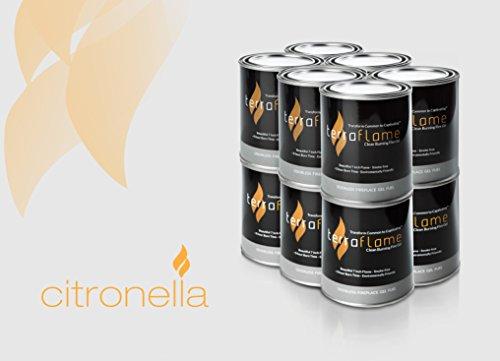 - SunJel Fume-free Firespace Gel Fuel Canister, Citronella Gel, 12-Pack