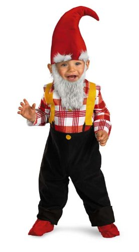 Disguise Garden Gnome Child Costume, Multi Color, (12-18 Months)