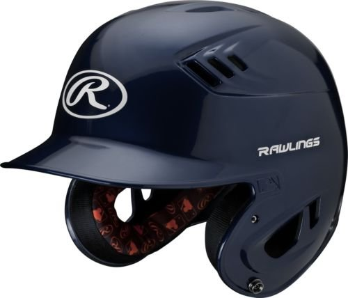 Rawlings R16 Series Metallic Batting Helmet, Navy, Senior (Senior Batting Helmet)