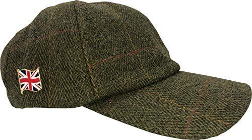 dc5eb515ba1 Nicky Adams Tweed Baseball Cap Hat One Size Waterproof Teflon Coated Hunting  Shooting Fishing Mens Ladies