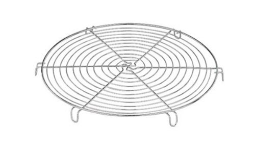 Round Cake Rack - Paderno World Cuisine 8 5/8 Inch Chromed Round Cooling Rack