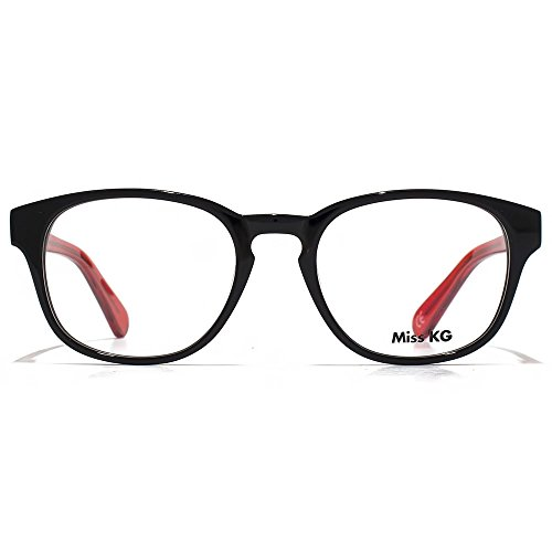 Miss KG Lunettes ovales douces en noir MKGS006-BLK clear