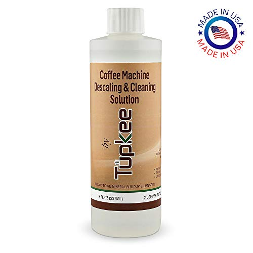 Tupkee Coffee Machine Descaling Solution - Universal, For Drip Coffee Maker, nespresso, delonghi, and Keurig Coffee Machines Descaler & Cleaning Solution, Breaks Down Mineral Buildup and Limescale (Clean Coffee Maker)
