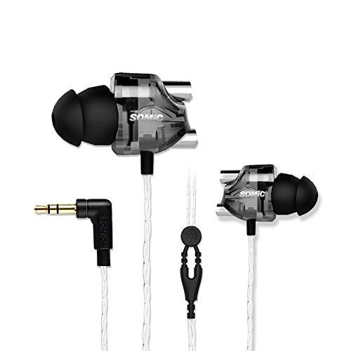 SOMIC V4 in Ear Sport Music Earbuds, HiFi Sound, 3.5MM Plug Earphones for Running Jogging Gym, for Mobile iPod