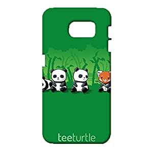 Samsung Galaxy S6 Mobile Shell Exquisite 3D Phone Case Snap on Samsung Galaxy S6 Three Brown Bears And Pandas Pattern Cover