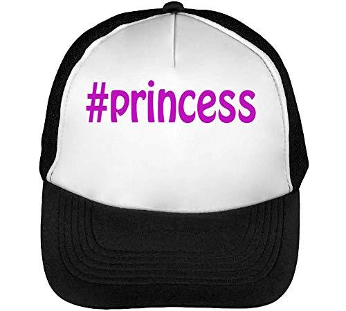 #Princess Purple Fashioned Slogan Gorras Hombre Snapback Beisbol Negro Blanco