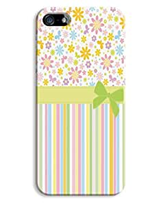 Girly Flowers and Stripes Case for your iPhone 5/5S