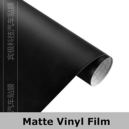 bbd09973a4 Amazon.com: Black YGM Matt Matte Wrapping Vinyl Film Sheet Decal Car ...