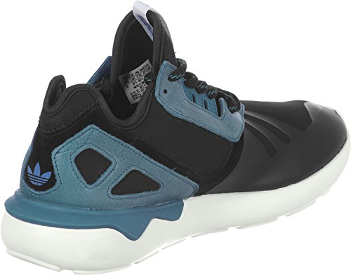 adidas Tubular Runner, Damen Hohe Sneakers Black/Surf Petrol/White