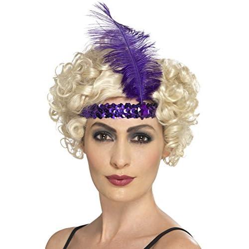 06f9ecab 30%OFF Diadema charlestón lentejuelas y pluma violeta mujer ...