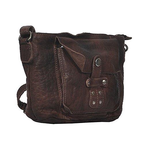"""Vilenca """"40709 Marrone"""" Signore borsa a tracolla, borsa di cuoio per le donne, Dimensioni-L25cmxH18.5cmxB9cm"""