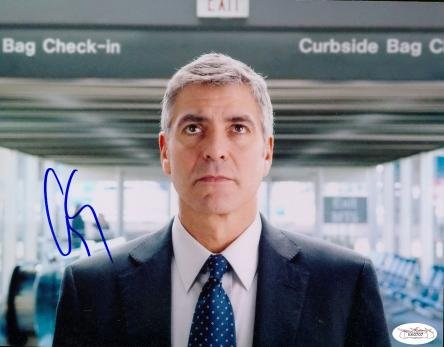 Autograph-Warehouse-49943-George-Clooney-Autographed-8-x-10-Photo-Actor-Jsa-Image-No-1