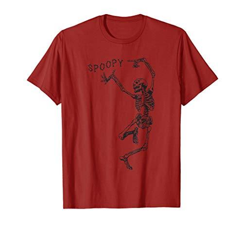 SPOOPY Skeleton Shirt Funny Halloween Meme T-Shirt -