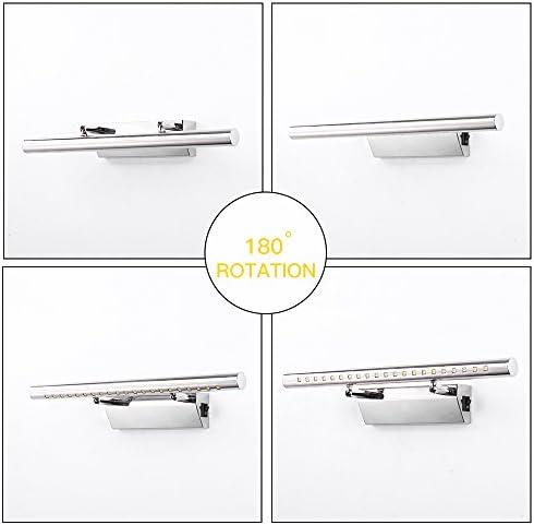 Elinkume Mirror Lamp Bathroom Lamp Bathroom Light Mirror Light Wall Light With Switch 180 Angle Adjustable Warm White 5w Stainless Steel Led Bathroom Lamp For Bathroom Mirror Light 40 Cm Beleuchtung