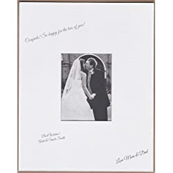 18x24 White Signature and Autograph Picture Mat for 8x10 picture. Weddings, Baby Showers, Reunions