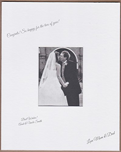 Wedding Autograph Photo Frame - 18x24 White Signature and Autograph Picture Mat for 8x10 picture. Weddings, Baby Showers, Reunions