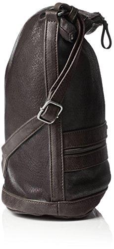 Tamaris Smirne Hobo Bag - Shoppers y bolsos de hombro Mujer Negro (Black Comb.)