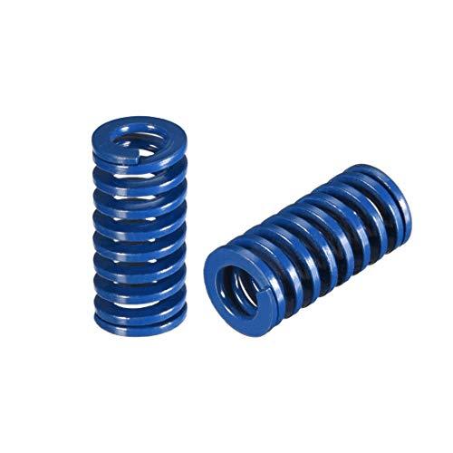 uxcell 10mm OD 20mm Long Spiral Stamping Light Load Compression Mould Die Spring Blue 2Pcs