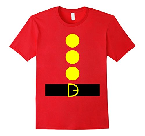 Mens Dwarf DIY Costume T Shirt Funny Tshirt Halloween Party Tee XL Red (Mens Diy Costumes)